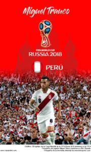 Wallpaper de Miguel Trauco de Perú para la Copa Mundial de la FIFA - Rusia 2018 - Edición para teléfonos con resolución 480x800