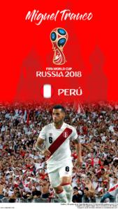Wallpaper de Miguel Trauco de Perú para la Copa Mundial de la FIFA - Rusia 2018 - Edición para teléfonos HD (720x1280)