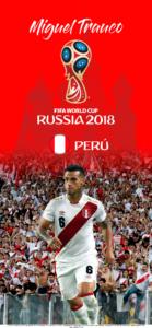Wallpaper de Miguel Trauco de Perú para la Copa Mundial de la FIFA - Rusia 2018 - Edición para iPhone X (1125x2436)
