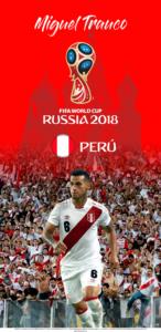 Wallpaper de Miguel Trauco de Perú para la Copa Mundial de la FIFA - Rusia 2018 - Edición para Samsung S9 (1440x2960)