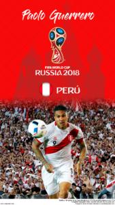 Wallpaper de Paolo Guerrero de Perú para la Copa Mundial de la FIFA - Rusia 2018 - Edición para teléfonos HD (720x1280)
