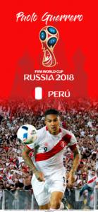 Wallpaper de Paolo Guerrero de Perú para la Copa Mundial de la FIFA - Rusia 2018 - Edición para iPhone X (1125x2436)