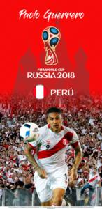 Wallpaper de Paolo Guerrero de Perú para la Copa Mundial de la FIFA - Rusia 2018 - Edición para Samsung S9 (1440x2960)