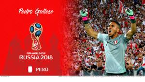 Wallpaper de Pedro Gallese de Perú en la Copa Mundial de Rusia 2018 - Edición para Laptop (1366x768)