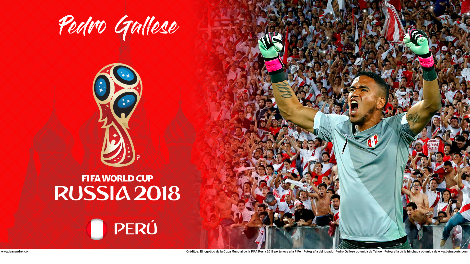 Wallpaper de Pedro Gallese de Perú para la Copa Mundial de la FIFA - Rusia 2018 - Edición para PC (1920x1080)