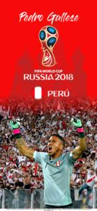 Wallpaper de Pedro Gallese de Perú para la Copa Mundial de la FIFA - Rusia 2018 - Edición para iPhone X (1125x2436)