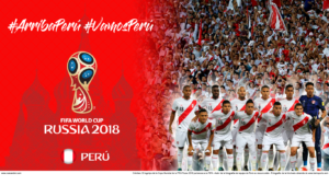 Wallpaper de la selección peruana de fútbol para la Copa Mundial de la FIFA - Rusia 2018 - Edición para Laptop (1366x768)