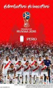 Wallpaper de la selección peruana de fúbol para la Copa Mundial de la FIFA - Rusia 2018 - Edición para teléfonos con resolución 480x800