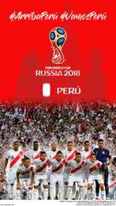 Wallpaper de la selección peruana de fúbol para la Copa Mundial de la FIFA - Rusia 2018 - Edición para teléfonos con resolución 720x1280