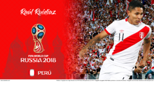 Wallpaper de Raúl Ruidíaz de Perú para la Copa Mundial de la FIFA - Rusia 2018 - Edición para Laptop (1366x768)