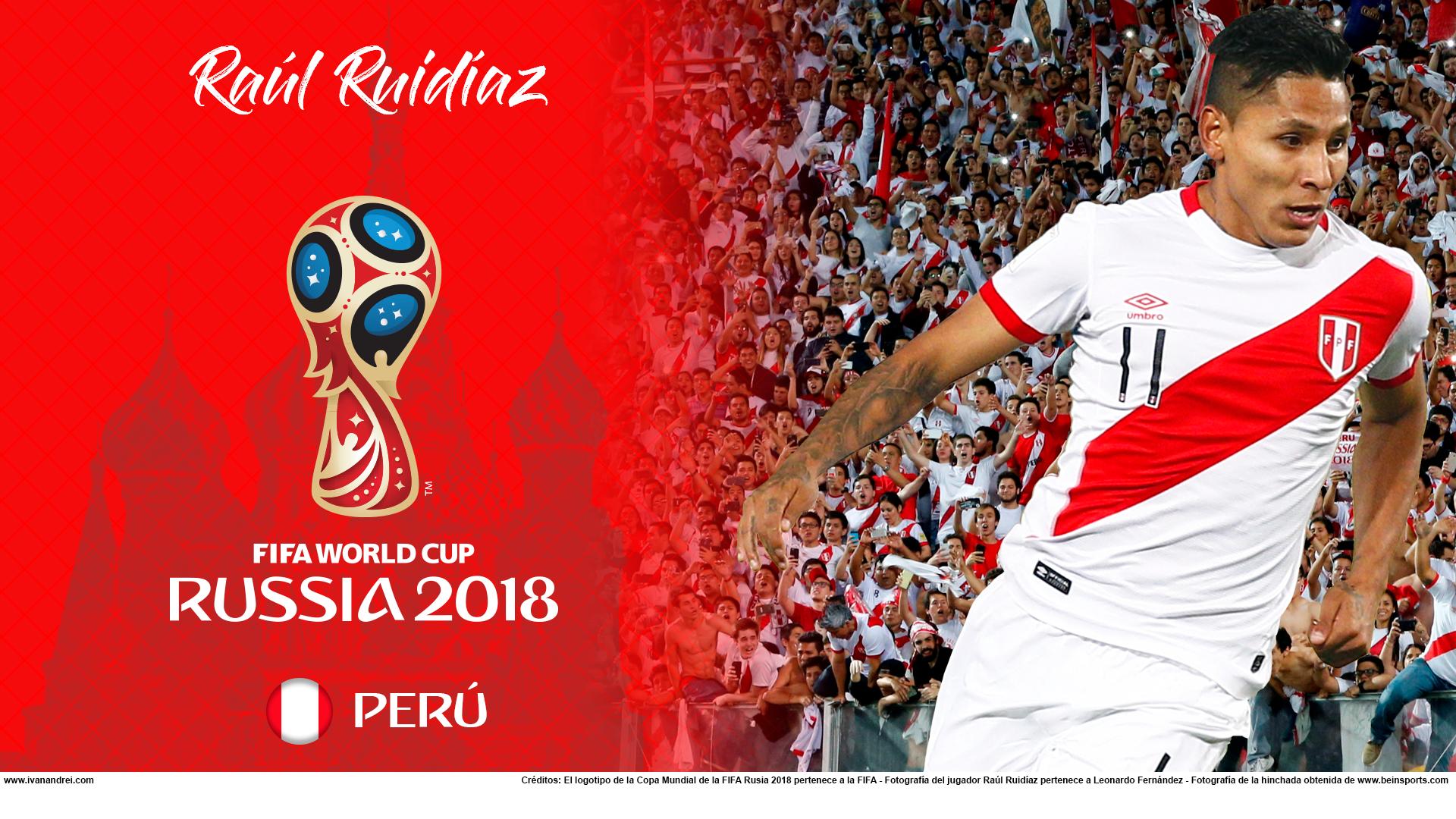 Wallpaper de Raúl Ruidíaz de Perú para la Copa Mundial de la FIFA - Rusia 2018 - Edición para PC (1920x1080)
