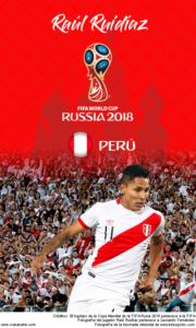 Wallpaper de Raúl Ruidíaz de Perú para la Copa Mundial de la FIFA - Rusia 2018 - Edición para teléfonos con resolución 480x800