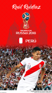 Wallpaper de Raúl Ruidíaz de Perú para la Copa Mundial de la FIFA - Rusia 2018 - Edición para teléfonos HD (720x1280)