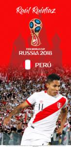 Wallpaper de Raúl Ruidíaz de Perú para la Copa Mundial de la FIFA - Rusia 2018 - Edición para Samsung S9 (1440x2960)