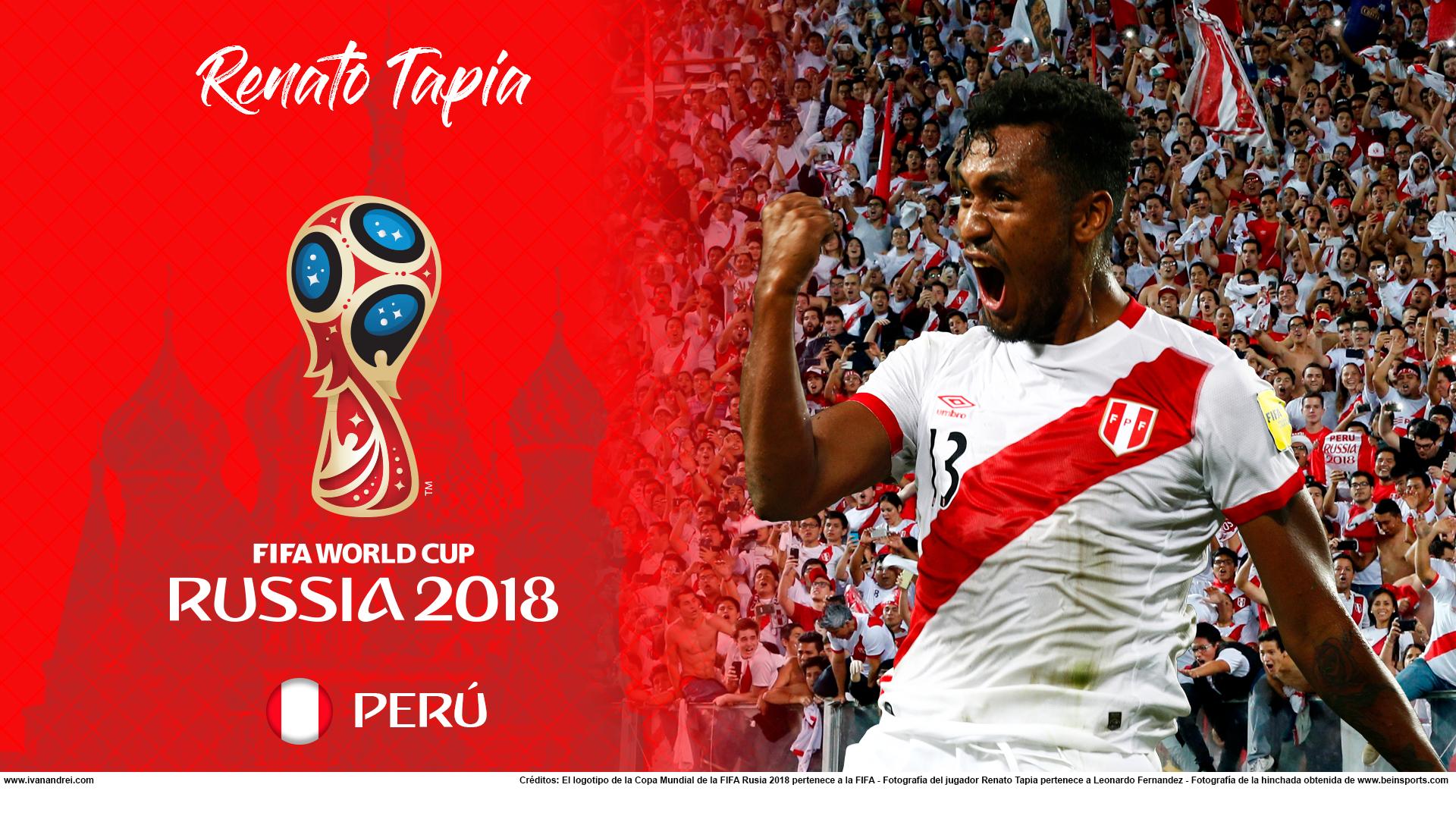 Wallpaper de Renato Tapia de Perú para la Copa Mundial de la FIFA - Rusia 2018 - Edición para PC (1920x1080)
