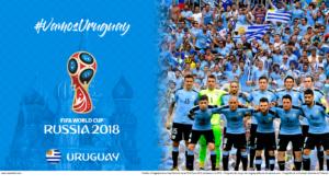 Wallpaper de la selección uruguaya de fútbol para la Copa Mundial de la FIFA - Rusia 2018 - Edición para Laptop (1366x768)