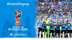 Wallpaper de la selección uruguaya de fútbol para la Copa Mundial de la FIFA - Rusia 2018 - Edición para PC (1920x1080)