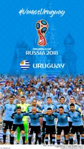 Wallpaper de la selección uruguaya de fúbol para la Copa Mundial de la FIFA - Rusia 2018 - Edición para teléfonos con resolución 720x1280