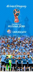 Wallpaper de la selección uruguaya de fútbol para la Copa Mundial de la FIFA - Rusia 2018 - Edición para iPhone X (1125x2436)