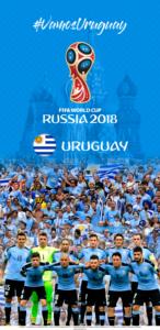 Wallpaper de la selección uruguaya de fútbol para la Copa Mundial de la FIFA - Rusia 2018 - Edición para Samsung S9 (1440x2960)