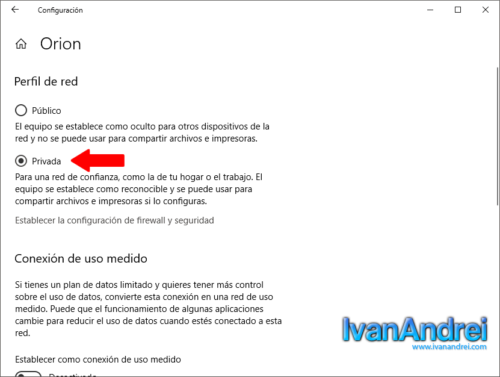 Convertir una red publica a una red privada en Windows 10