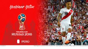 Wallpaper de Yoshimar Yotún de Perú en la Copa Mundial de Rusia 2018 - Edición para Laptop (1366x768)