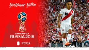 Wallpaper de Yoshimar Yotún de Perú para la Copa Mundial de la FIFA - Rusia 2018 - Edición para PC (1920x1080)