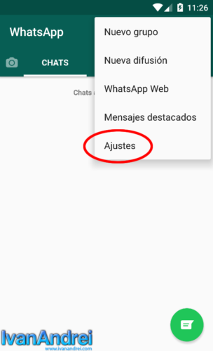 WhatsApp - Ajustes