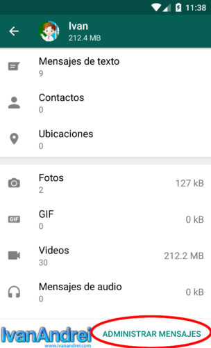 Eliminar videos, fotos, GIF, audios y mensajes en Whatsapp