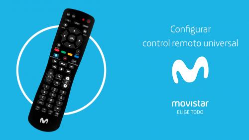 Configurar control remoto universal de Movistar para TV y decodificador