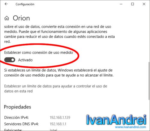 Windows 10 - ¿Qué es la conexión de uso medido windows 10?