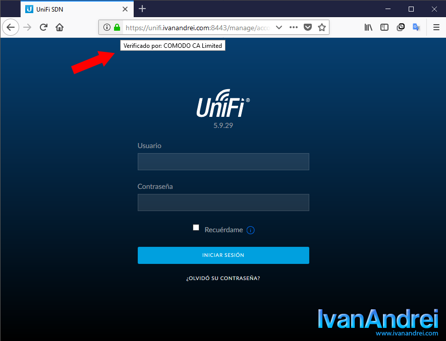 Instalar certificado SSL al controlador unifi en Windows