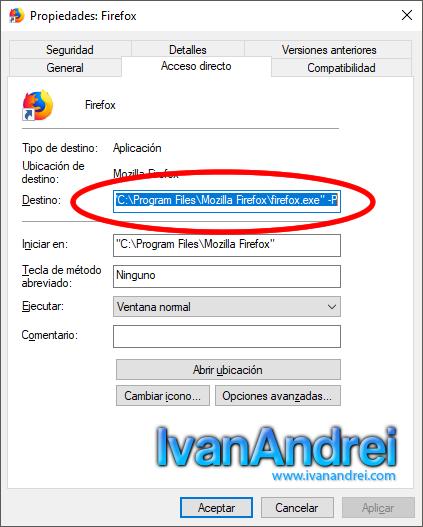 Crear varios perfiles de usuarios en Mozilla Firefox