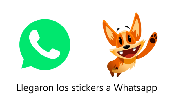 Llegaron los stickers en Whatsapp