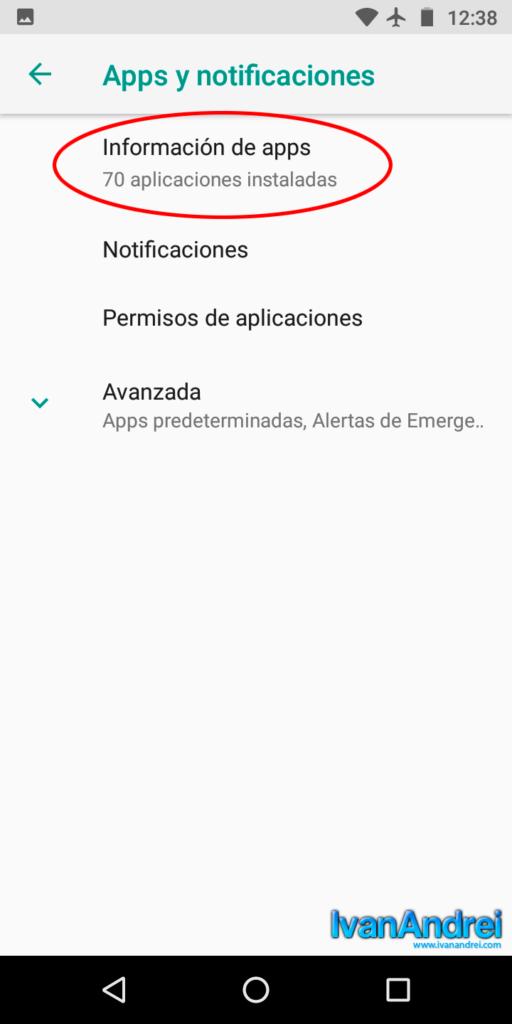 Android - Información de apps