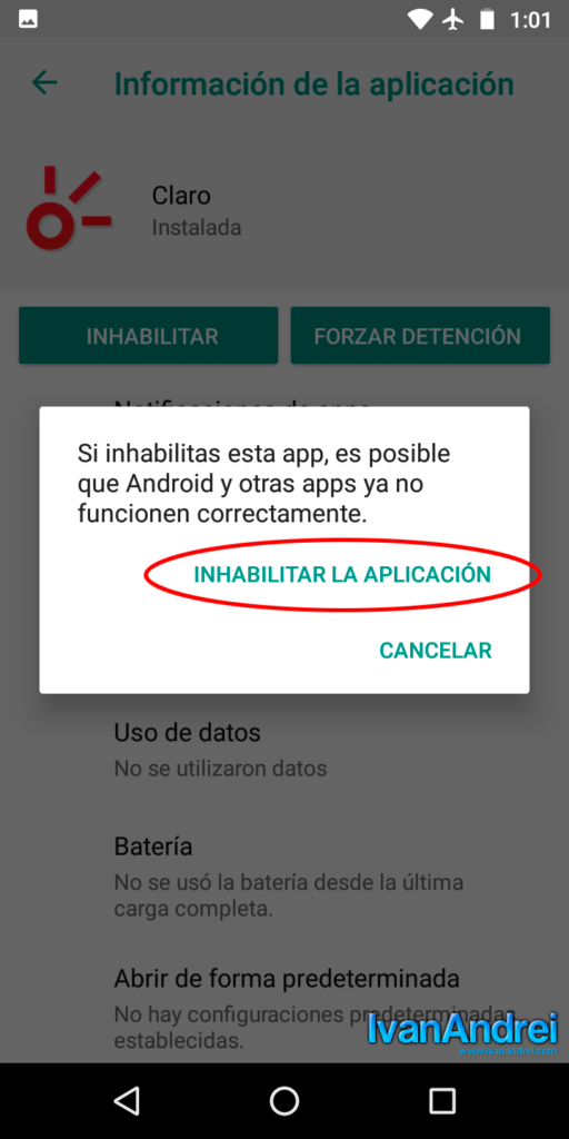 Inhabilitar aplicaciones innecesarias en tu nuevo teléfono Android
