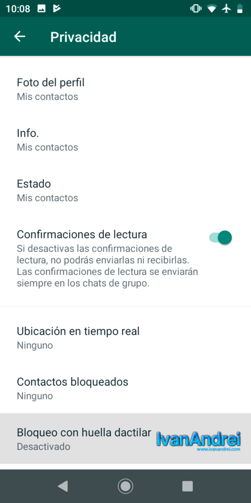 Bloquear WhatsApp con huella digital en Android