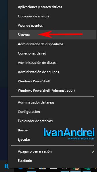 Windows 10 - Inicio - Sistema
