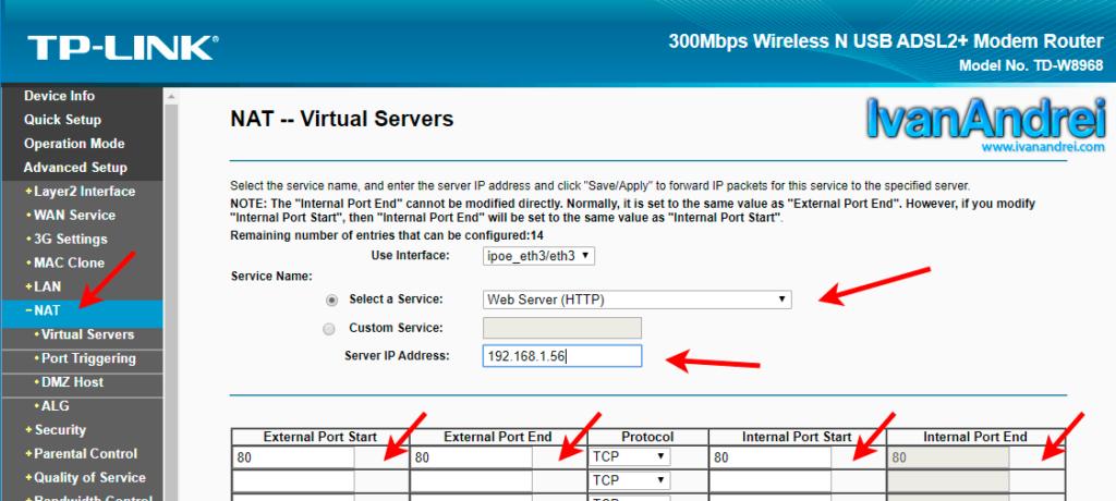 Configurar router para abrir puertos en NAT