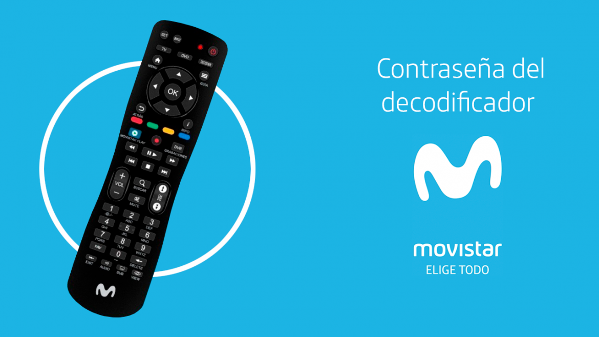 Movistar - Contraseña del decodificador