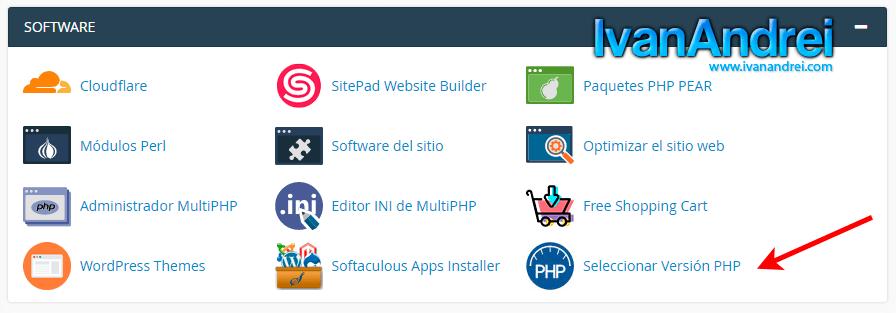 Cpanel - Cambiar versión de PHP