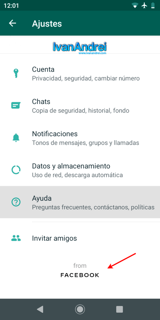 Logo corporativo de Facebook en WhatsApp 2.19.331-01