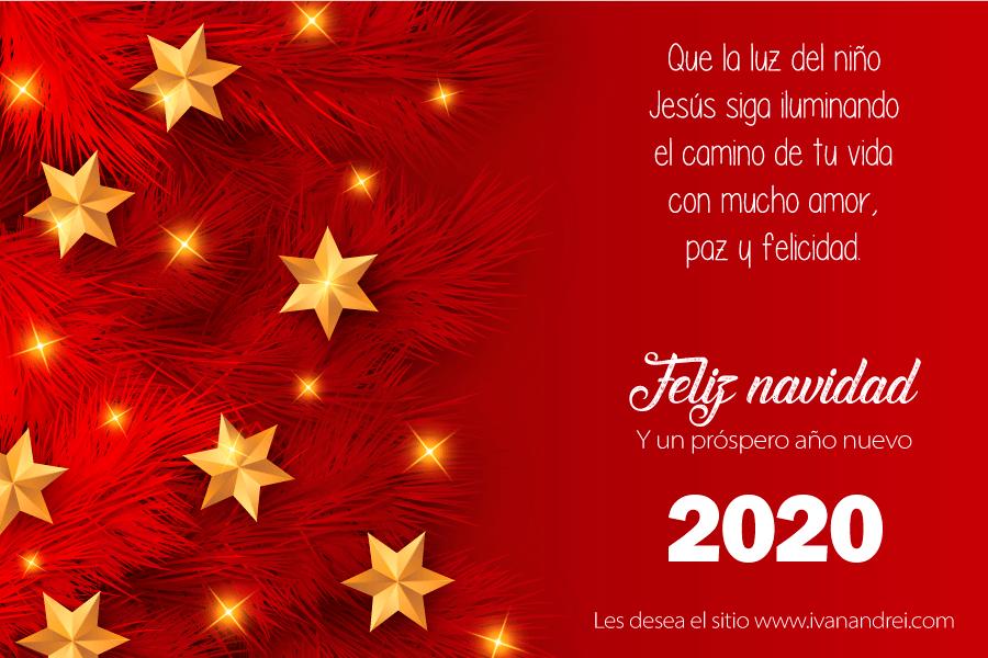 Feliz navidad y un próspero año nuevo 2020