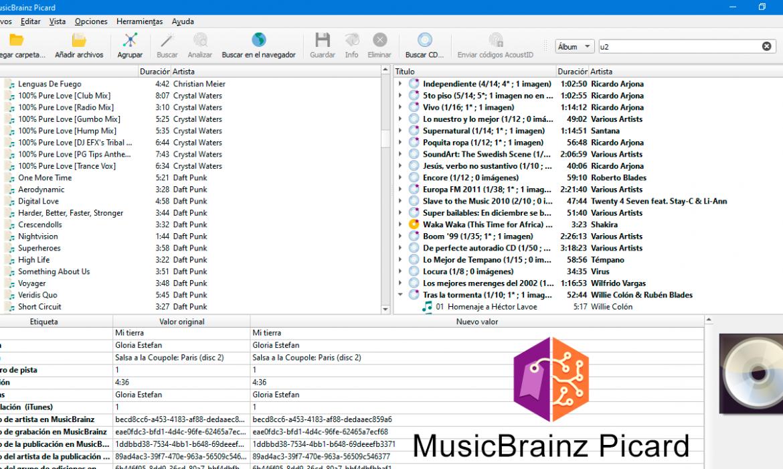 Agregar etiquetas de forma automática a tus MP3 con MusicBrainz Picard