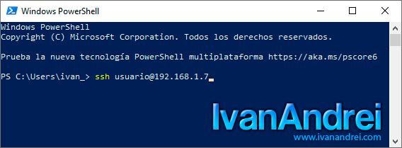 Cliente SSH en Windows 10 - Conexión por IP