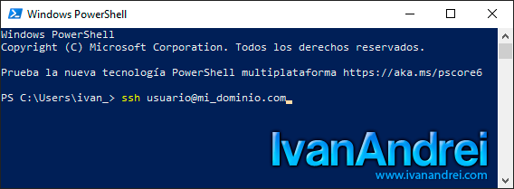 Cliente SSH en Windows 10 - Conexión por nombre de dominio