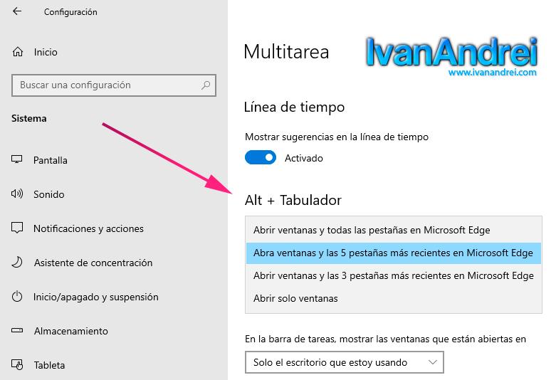 ALT + TAB en Microsoft Edge (Chromium)