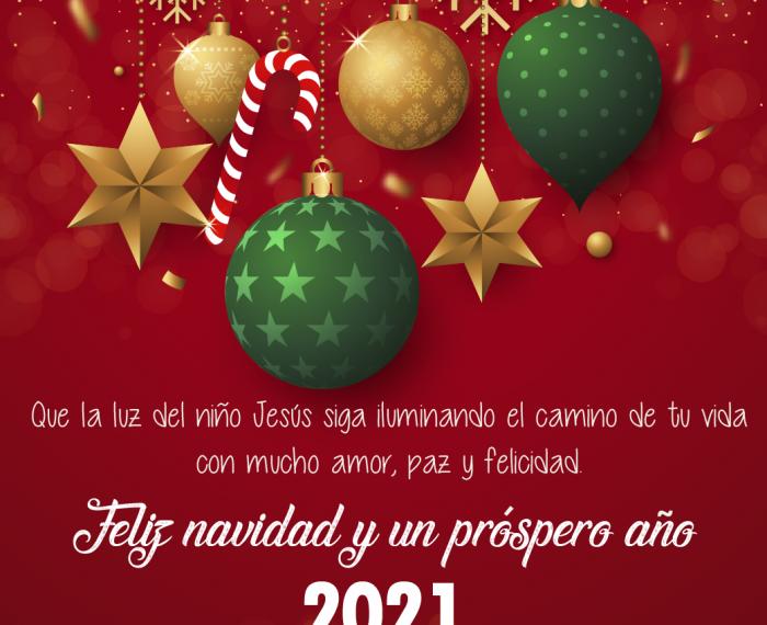 Feliz navidad y un próspero año 2021