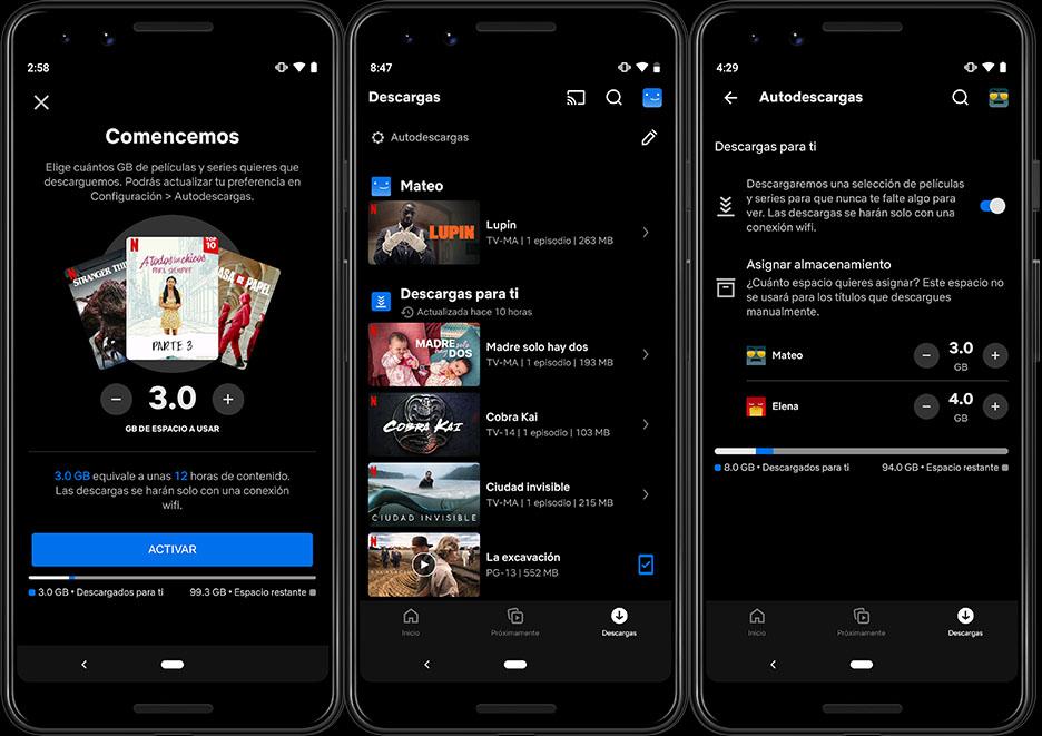 Netflix presenta Descargas para ti en Android