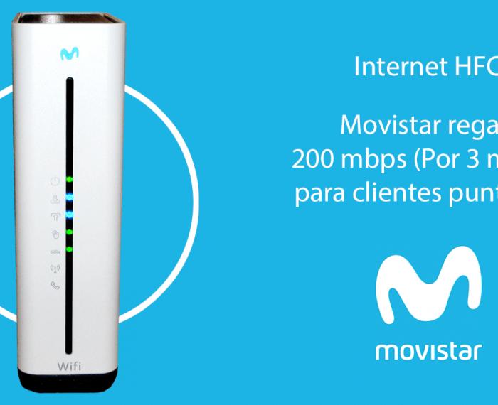 Movistar regala 200 mbps a clientes HFC por 3 meses